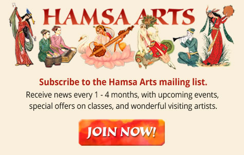 Joing the Hamsa Arts Mailing List